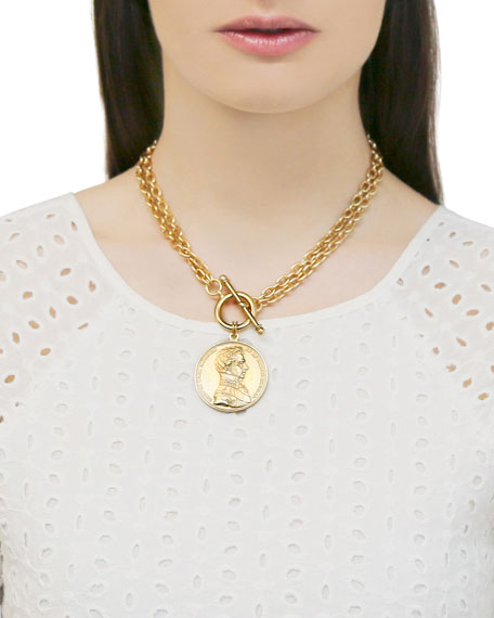 Image 2 of 2: Ben-Amun Moroccan Coin Double-Chain Necklace