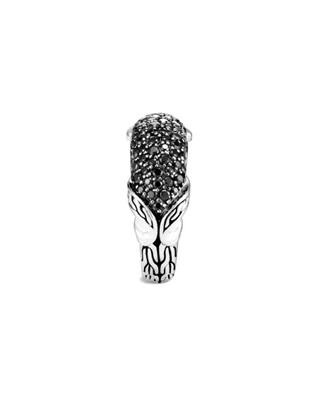 John Hardy Asli Classic Chain Black Spinel Pave Ring, Size 7