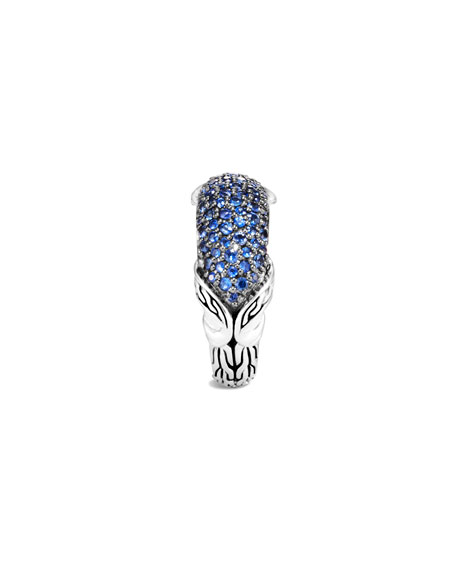 John Hardy Asli Classic Chain Blue Sapphire Pave Ring, Size 7