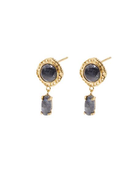 gorjana Gia Stone Stud-Drop Earrings