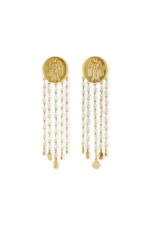 Lulu Frost Currency Pearly Chain Earrings