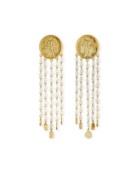 Lulu Frost Currency Pearly Chain Earrings