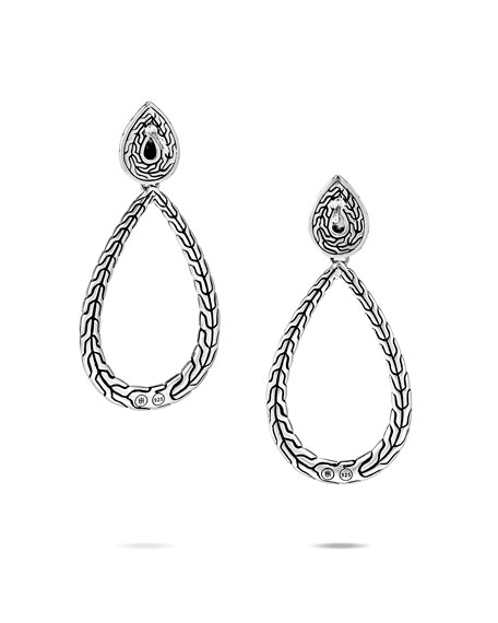 Image 2 of 2: John Hardy Classic Chain Black Spinel Pear-Drop Earrings