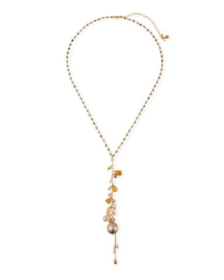 Chan Luu Long Pearl-Cluster Y-Drop Necklace