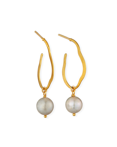 Chan Luu Pearl-Drop Hoop Earrings