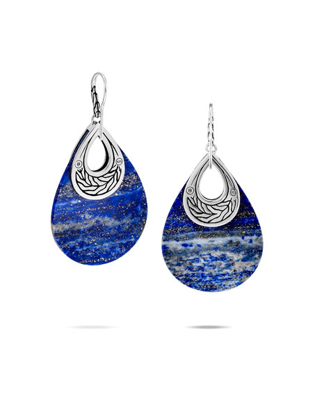 John Hardy Classic Chain Lapis Drop Earrings