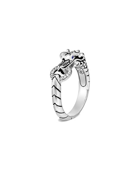 John Hardy Legends Naga Diamond Pave Ring, Size 7