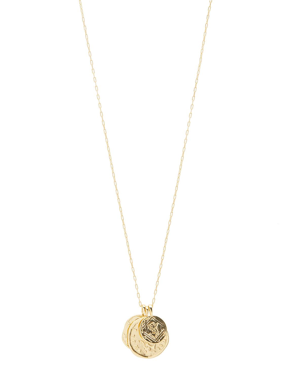 ana coin lariat necklace gorjana