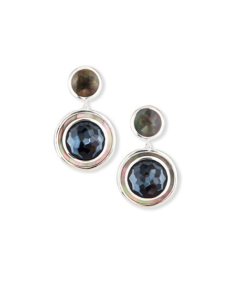 Ippolita Polished Rock Candy Small Snowman Earrings, Gray