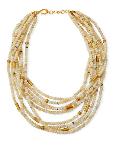 Agate 9-Strand Necklace