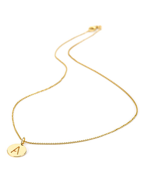 Sarah Chloe Eva 14k Cutout Pendant Necklace