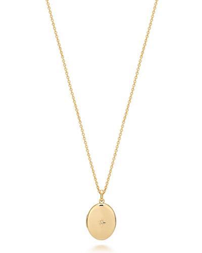 1-Diamond Locket Necklace