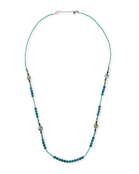 """Armenta Old World Pearl Mixed-Bead Long Necklace, 36""""L"""