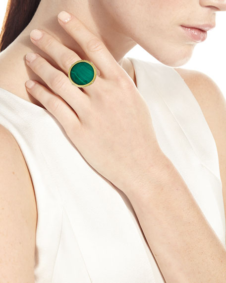 Armenta Old World Malachite/Sky Blue Topaz Doublet Ring, Size 6.5-7