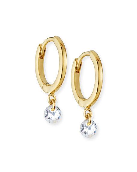 Tai Cubic Zirconia Drop Huggie Earrings
