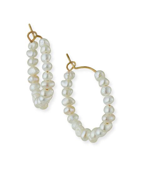 Tai Baroque Pearl Mini Hoop Earrings
