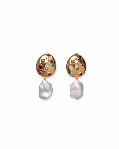 La Bomba Pearl-Drop Earrings