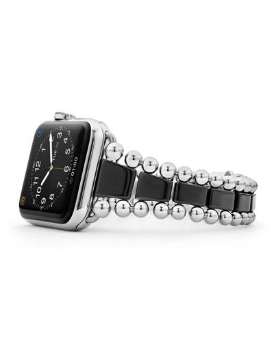Smart Caviar Black 38mm Watch Bracelet  Medium