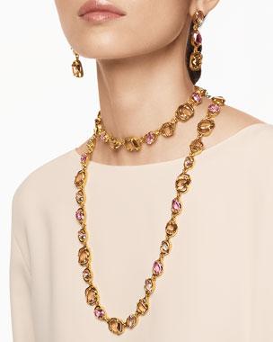 Oscar de la Renta Crystal Short Necklace