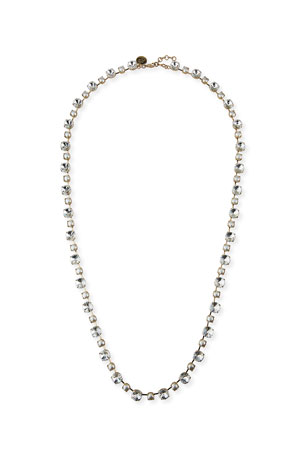 "Rebekah Price Margot Long Crystal Necklace, 38""L"