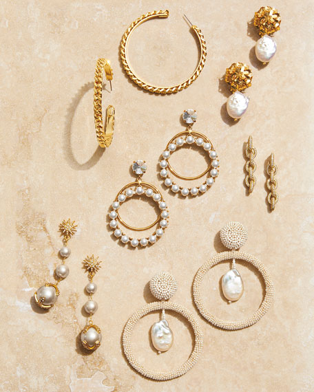 Sachin & Babi Bree Mini Fleur Pearl-Drop Earrings