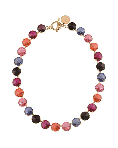 Rebekah Price Roxanne Rivoli Crystal Necklace