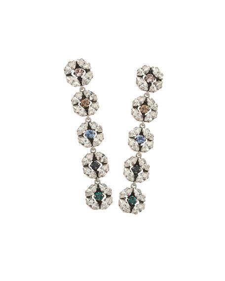 Rebekah Price Dahlia Longer Crystal Earrings