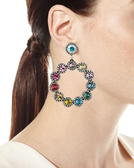 Dannijo Bella Crystal Hoop-Drop Earrings