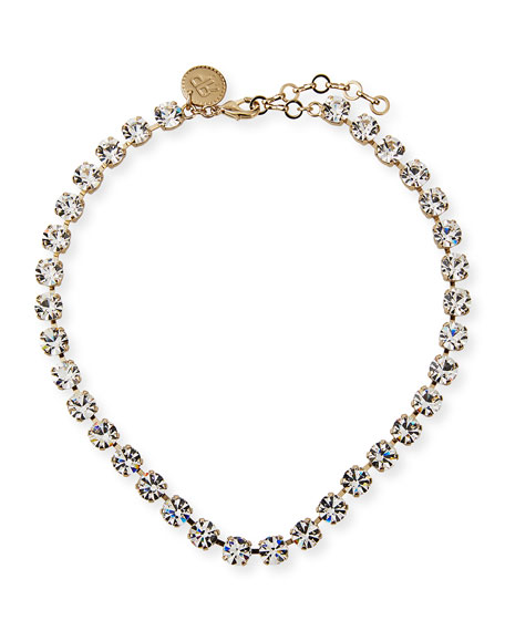 Rebekah Price Natalie Crystal Necklace, Clear