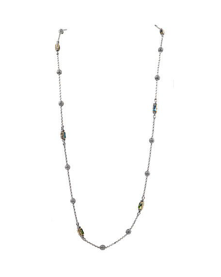 Konstantino Kleos Mixed-Stone Station Long Necklace
