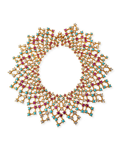 Lattice Bib Necklace
