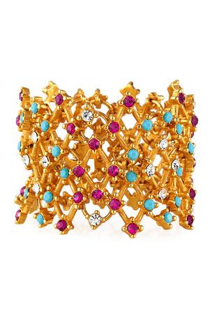 Jose & Maria Barrera Lattice Multicolor Crystal Bracelet