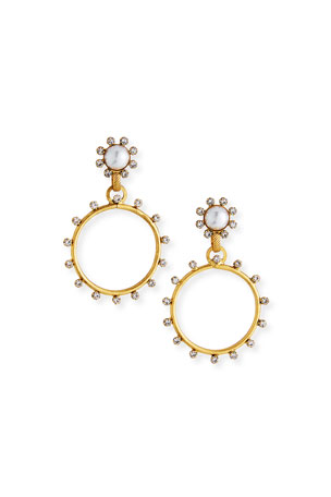 Elizabeth Cole Tyler Hoop-Drop Earrings