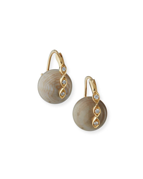 Sydney Evan 14 Marquise Evil Eye Bead Earrings