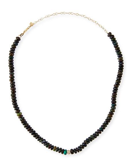 Sydney Evan 14k Diamond-Bead Ethiopian Opal Necklace