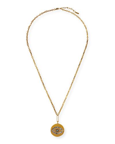Evil Eye Large Talisman Necklace
