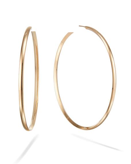 LANA 14k Wide Curve Royal Hoop Earrings, 80mm