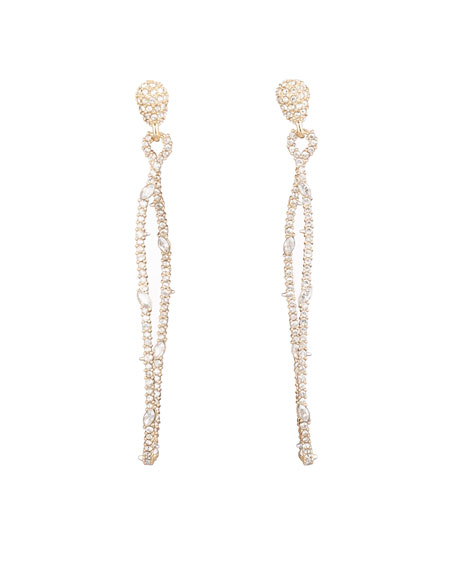 Alexis Bittar Twisted Linear Pave Post Earrings
