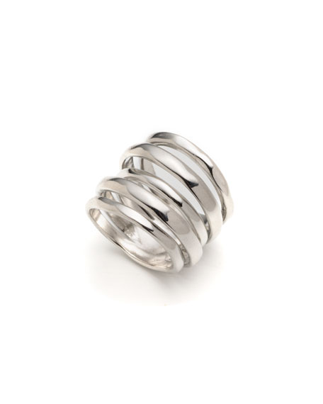 Image 1 of 2: Alexis Bittar Layered Ring, Size 6-8