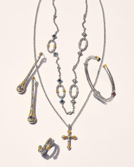 Konstantino Delos London Blue Topaz & Corundum Earrings