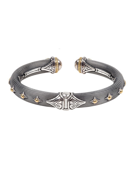 Image 2 of 3: Konstantino Delos Two-Tone Hinged Bracelet, Size M