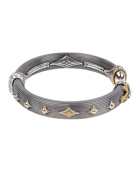 Image 3 of 3: Konstantino Delos Two-Tone Hinged Bracelet, Size M