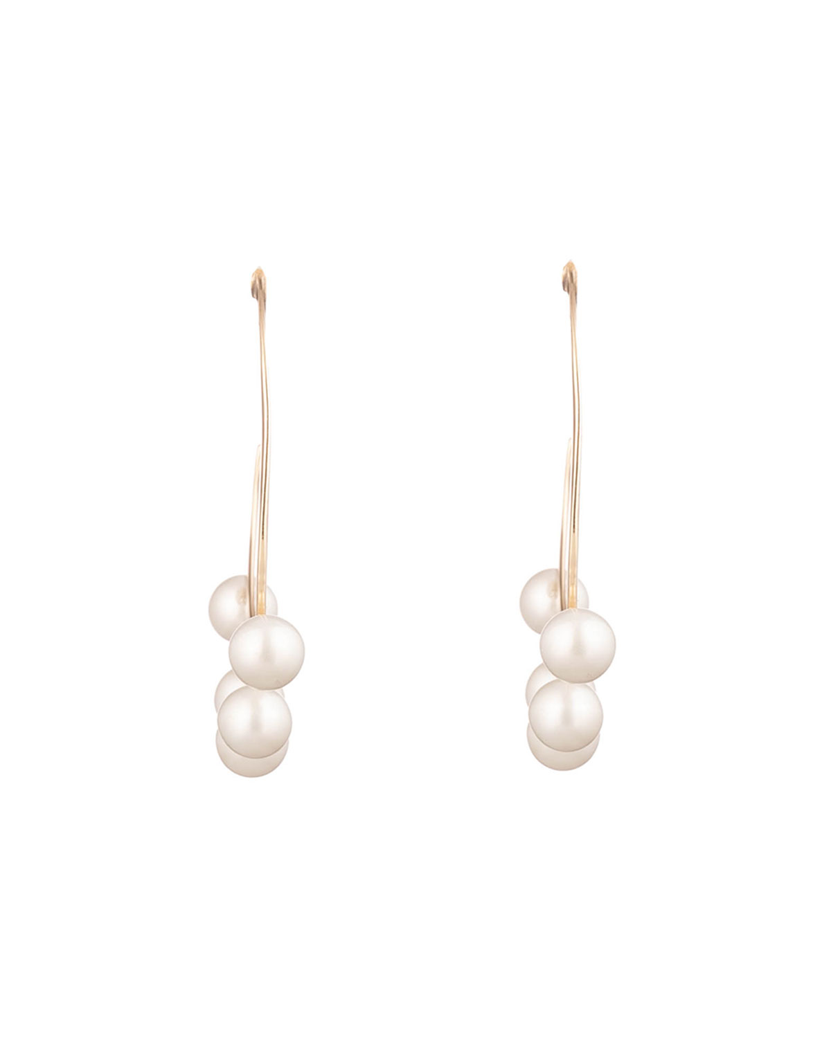 Alexis Bittar Pearl Studded Sheet Hoop Earrings
