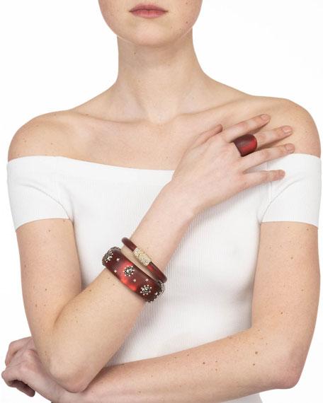 Alexis Bittar Georgian Stone Studded Hinge Bracelet, Wine