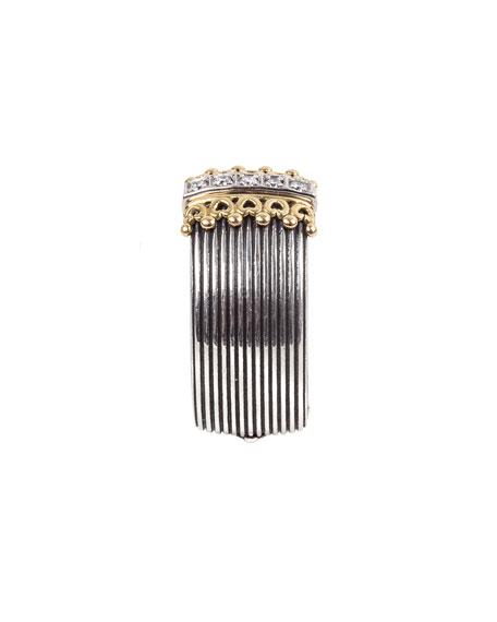 Konstantino Delos 5-Diamond Cigar Band Ring, Size 7