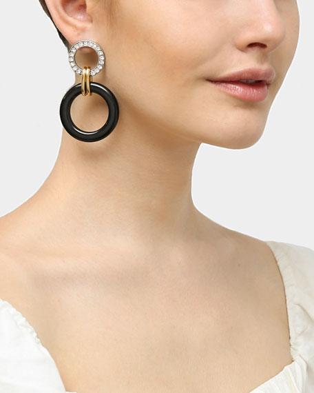 Ben-Amun Crystal Door-Knock Resin Hoop Earrings