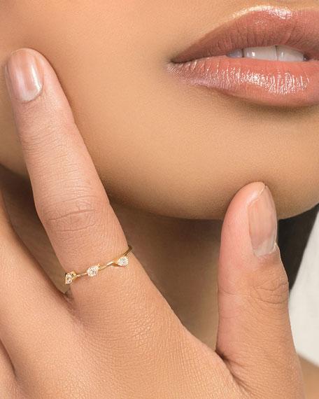 LANA 14k Solo Diamond Pear Wire Ring, Size 7