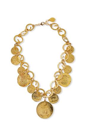 Devon Leigh Coin Statement Necklace