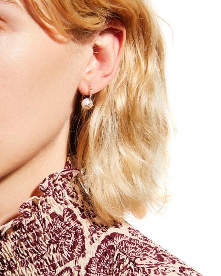 Sydney Evan 14k Diamond Starburst Pearl Earrings