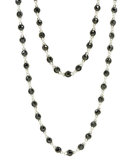 "Freida Rothman Industrial Finish Bezel Stone Necklace, 36""L"